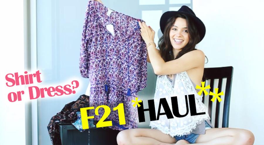 F21 haul thumbnail
