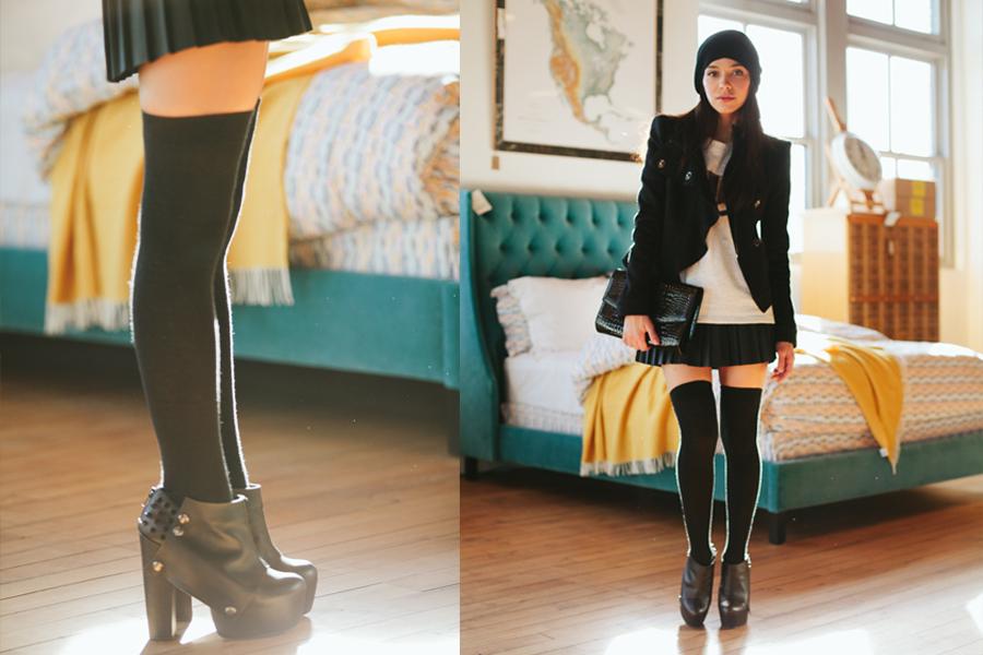 pleated skirt 1