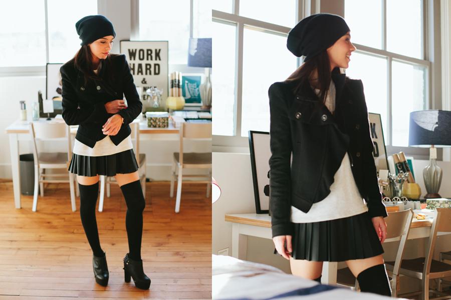 pleated skirt 2