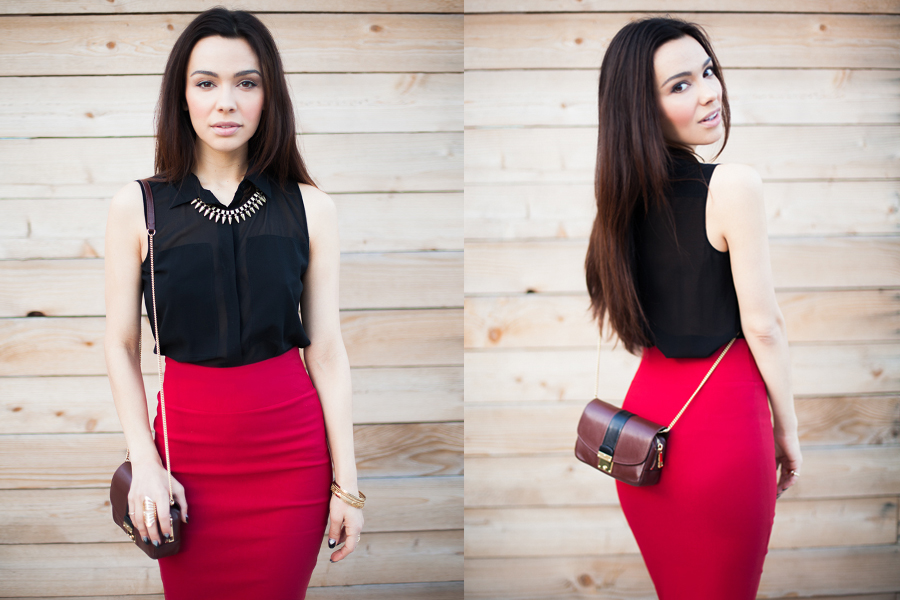 Skirt It Outfit Red-04