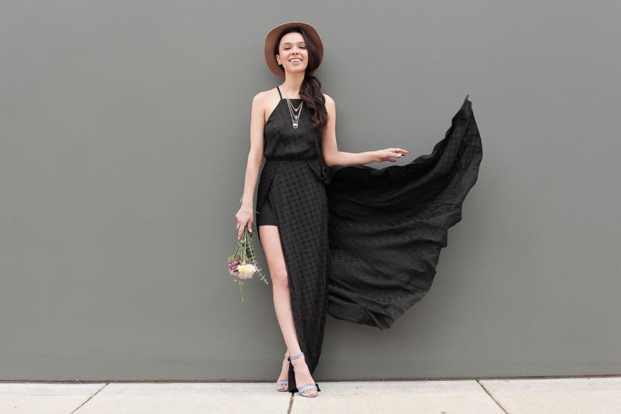 Astr Black Dress-104