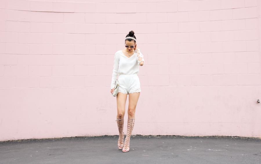 Pink Wall Jaleh Top White-100