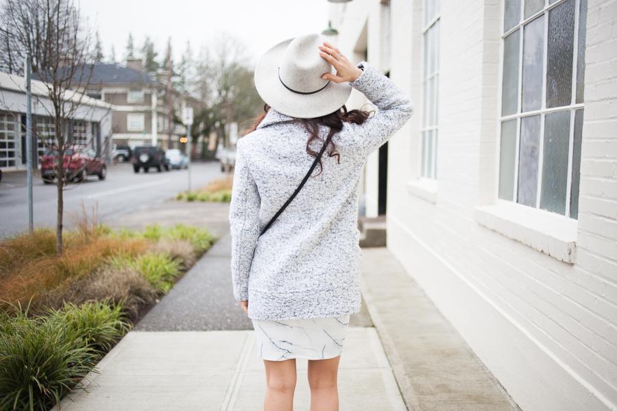 Forever21 marble skirt-100