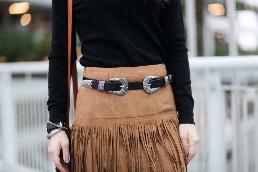 Romwe fringe skirt-100