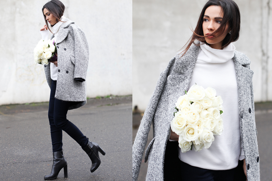 White Turtleneck Grey coat 02