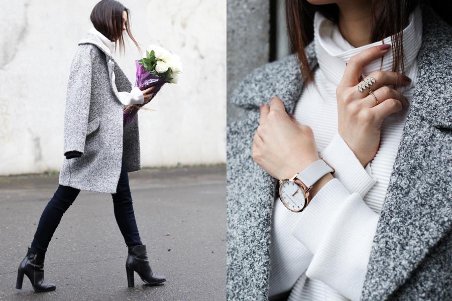 White Turtleneck Grey coat 03