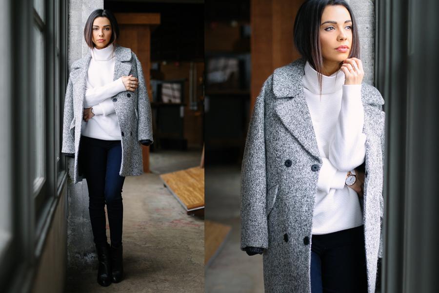 White Turtleneck Grey coat 04