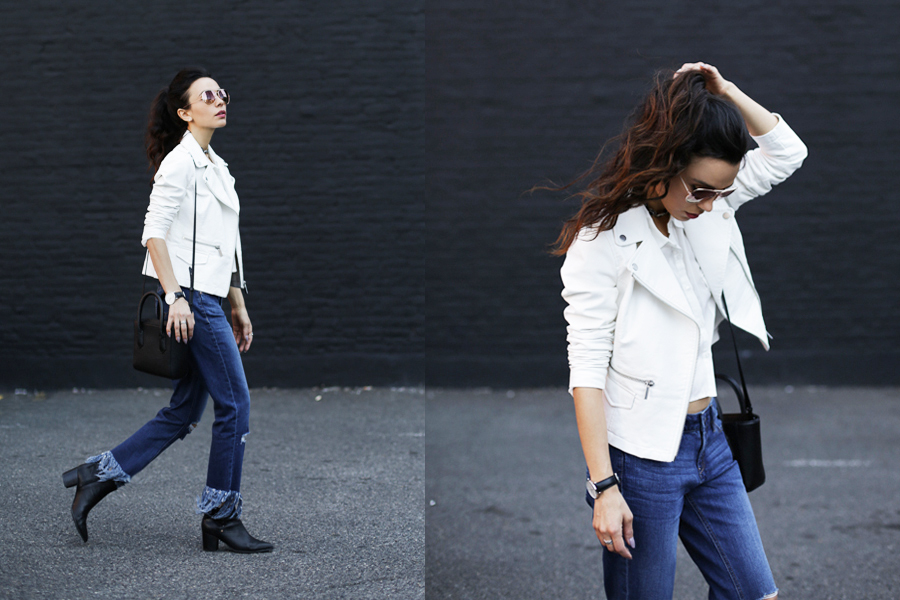 White leather jacket nyco 04