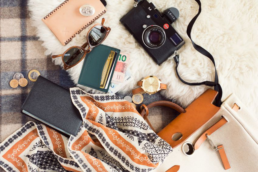 What's in photographer Jamie Beck's vintage Hermes backpack as she travels through the Amazon of Brazil in South America.