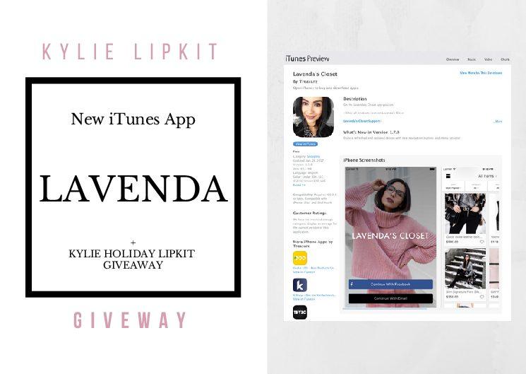 New Lavenda App + Kylie Lipkit GIVEAWAY